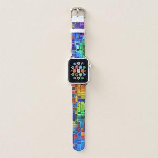 Appleの時計バンドのおもしろいのカラフルで幾何学的なモダン Apple Watchバンド
