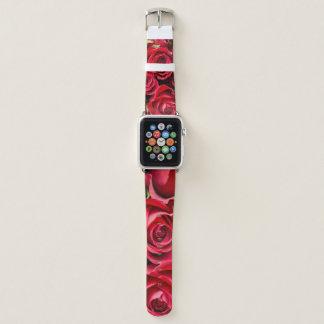 Appleの時計バンドの赤いバラ Apple Watchバンド