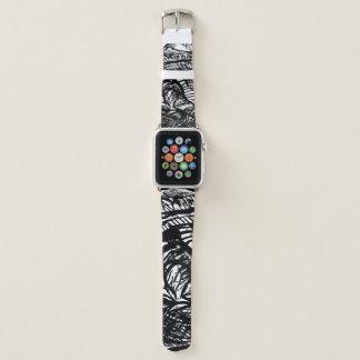 Appleの時計バンド42mmインクスケッチのクローズアップのデザイン Apple Watchバンド