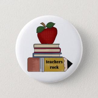 Appleの本、鉛筆の先生の石 缶バッジ