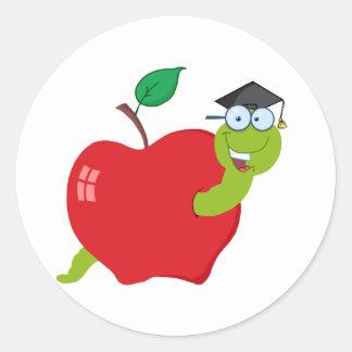 Appleの漫画の大学院みみず ラウンドシール