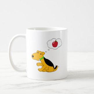 Appleの漫画のAiredaleテリア犬の考えること コーヒーマグカップ