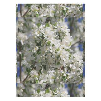 Appleの白い花の美しい自然の写真 テーブルクロス