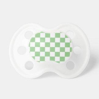 Appleの緑のチェッカーボード おしゃぶり