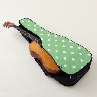 Appleの緑の水玉模様 ギターケース