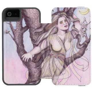 Appleの花のドリュアスの妖精の妖精の国のファンタジーの神話 Incipio Watson™ iPhone 5 財布 ケース