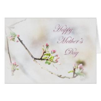 Appleの花の母の日の挨拶状-芽 カード