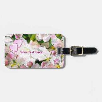 Appleの花の~の荷物のラベル ラゲッジタグ