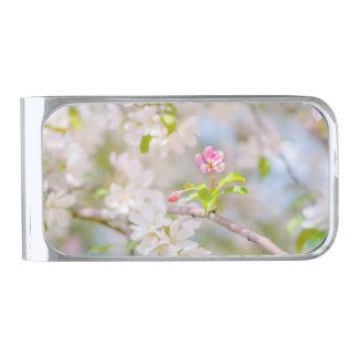 Appleの花-美しい シルバー マネークリップ