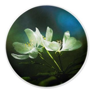Appleの花- 2つの花 セラミックノブ