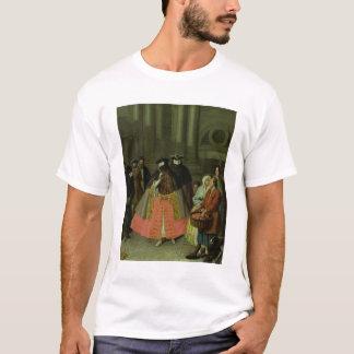 Appleの販売人(キャンバスの油) Tシャツ