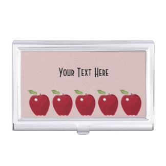 Appleの赤いデザイン 名刺入れ