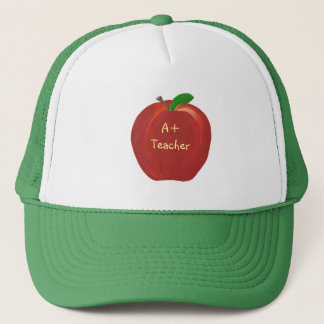 Appleの赤い絵画、A+ 先生の帽子 キャップ