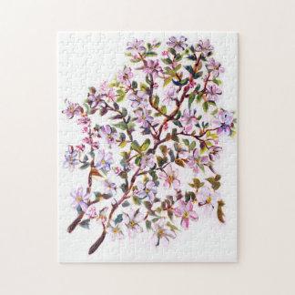 Appleの陽気な花によってはアクリルの絵画が開花します ジグソーパズル