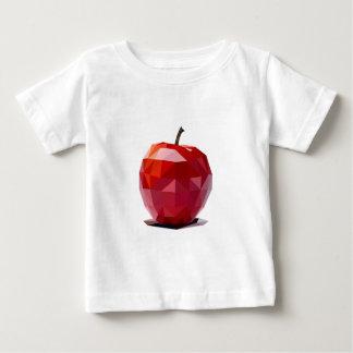 Appleの100%年のオーガニックで赤い抽象デザイン ベビーTシャツ