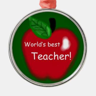 """Appleの""""世界で最も最高のな先生""""のギフト メタルオーナメント"""