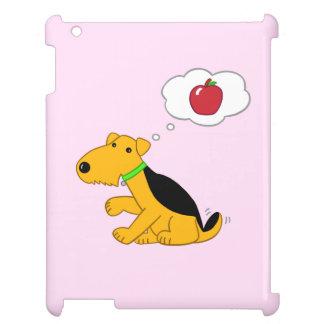 AppleのiPadの場合の漫画のAiredale犬の考えること iPadカバー