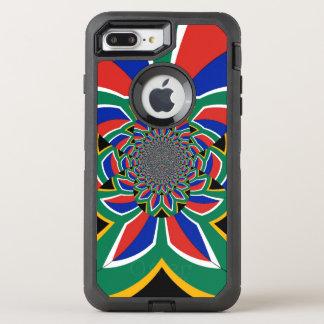 AppleのiPhoneのための南アフリカ共和国のカラフルなデザイン オッターボックスディフェンダーiPhone 8 Plus/7 Plusケース