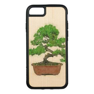 AppleのiPhone 7のバンパーの木製の箱: 盆栽の木 Carved iPhone 8/7 ケース