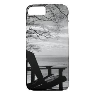 AppleのiPhone 8/7Adirondackの椅子BWのjjhelene iPhone 8/7ケース