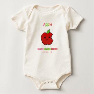 Appleのnomのnomのnom ベビーボディスーツ