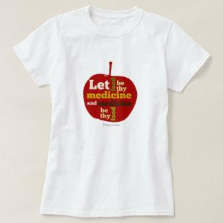 APPLEは食糧が薬それらであるようにしました Tシャツ
