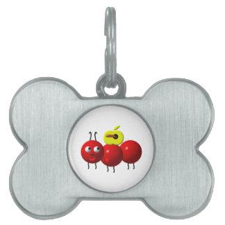 Appleを持つかわいい蟻 ペットネームタグ