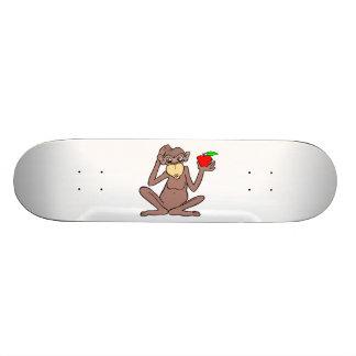 Appleを持つ猿 スケートボード
