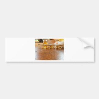 Appleゼリーの缶詰になる写真撮影 バンパーステッカー