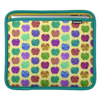 Appleパターン明るい色のiPadの袖 iPadスリーブ