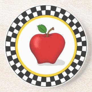Apple及びチェッカーボードのコースター コースター