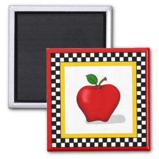 Apple及びチェッカーボードの正方形の磁石 マグネット