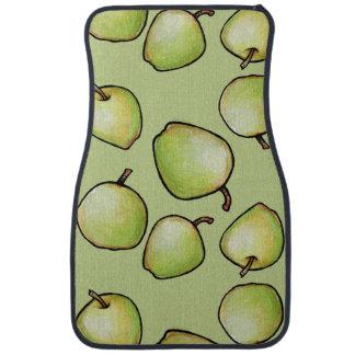 Apple緑のパターン カーマット