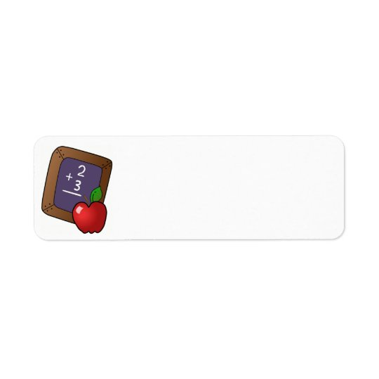 apple_and_slateboardの黒い板、チョーク、chalkboa 返信用宛名ラベル