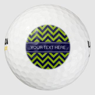 Apple Grn海軍LGシェブロン濃紺の名前のモノグラム ゴルフボール