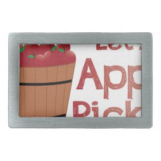 Apple Pickin 長方形ベルトバックル