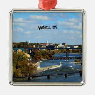 Appletonのウィスコンシンの景色の写真 メタルオーナメント