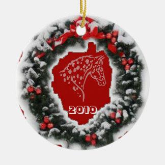 APPYのクリスマスの赤 セラミックオーナメント