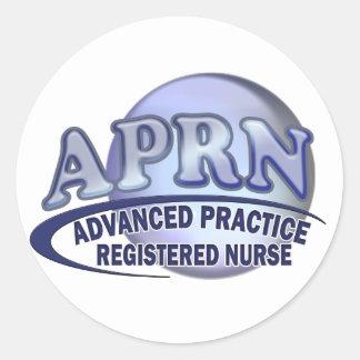 APRNのロゴの高度の練習の公認看護師 ラウンドシール