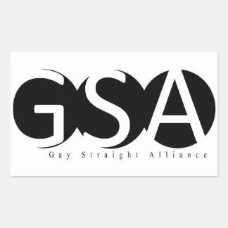 APSU GSAの長方形のステッカー 長方形シール