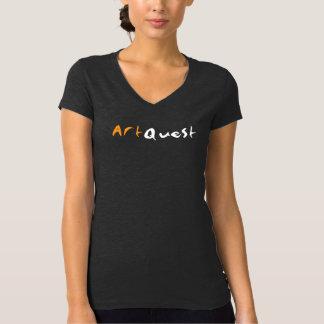 AQのロゴの女性のV首 Tシャツ