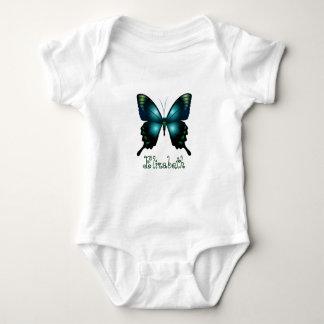 Aqua  Elegant Butterfly ベビーボディスーツ