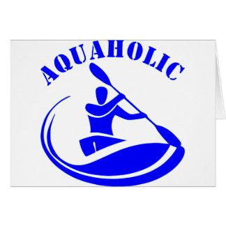 Aquaholicのカヤックの人 カード