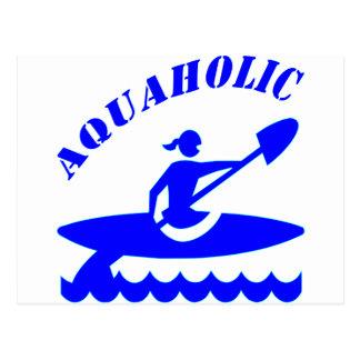 Aquaholicのカヤックの女の子 ポストカード