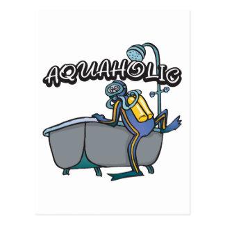 Aquaholicのスキューバ ポストカード