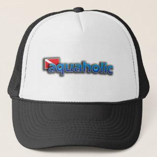 Aquaholicのロゴ キャップ