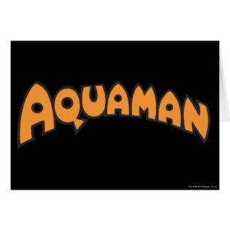Aquamanのオレンジのロゴ カード