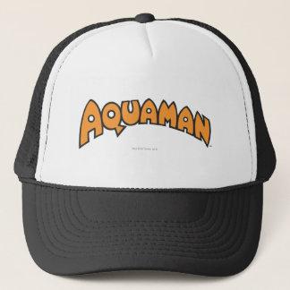 Aquamanのオレンジのロゴ キャップ