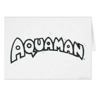 Aquamanのグランジで黒いロゴ2 グリーティングカード