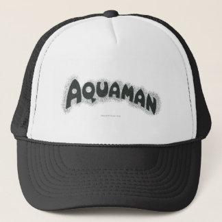 Aquamanのグランジで黒いロゴ キャップ